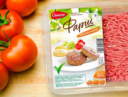 Этикетка на упаковке замороженного продукта