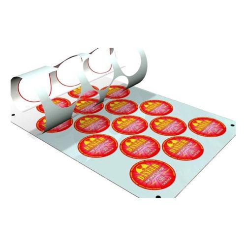 Печать этикеток в листах