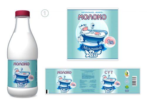 Изготовление этикеток для молока