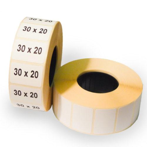 Печать термоэтикеток на трехслойной бумаге (картоне, полиэтилене, рибоне и др) с термопокрытием