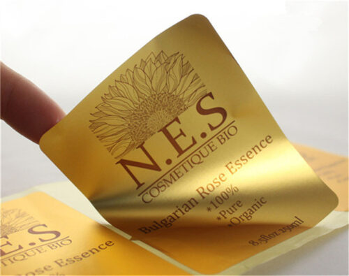 Золотые этикетки для повышения статуса товара - для косметики, продуктов питания
