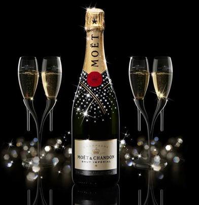 Наклейка на бутылку шампанского