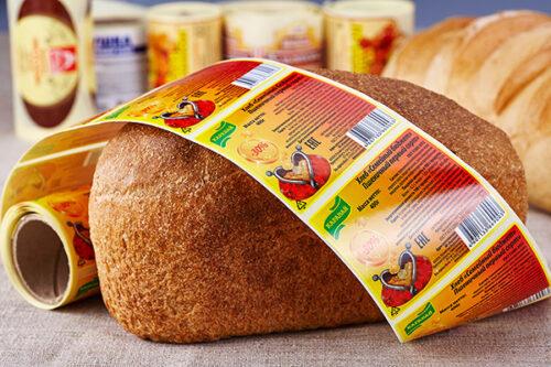 фото Печать этикеток для хлебобулочных изделий