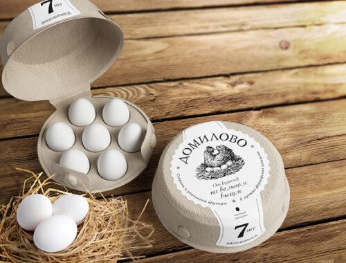 фото Печать этикеток на упаковки с яйцами